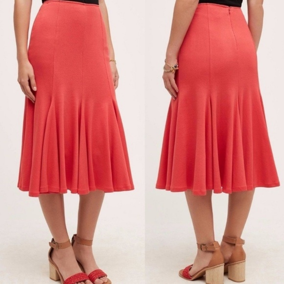 ff40d8d465 Anthropologie Skirts | Sale Trumpet Fit Flare Midi Skirt Knit Hd ...